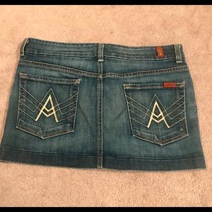 7 for all Mankind A Pocket jean skirt